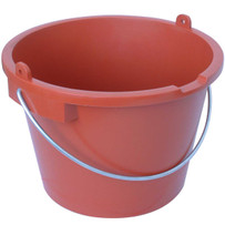 Raimondi 7 Gallon Construction Bucket with Handle High impact injection molded plastic buckets, The toughest bucket in the field, molded of prime high density polyethylene