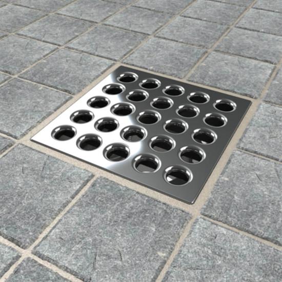 Polished Chrome Ebbe shower drain cover
