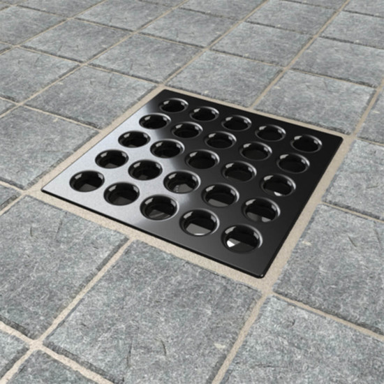 Polished Chrome Ebbe PRO shower drain cover