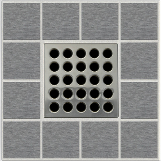 Brushed Nickel Ebbe PRO Grate E4404
