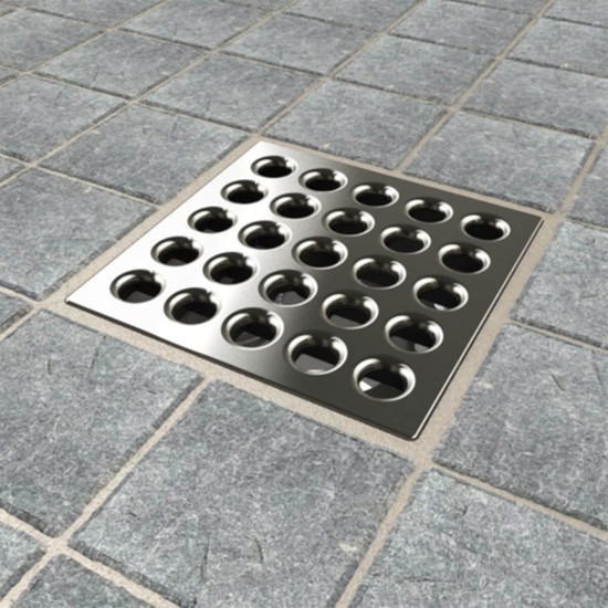 Brushed Nickel Ebbe PRO shower drain cover