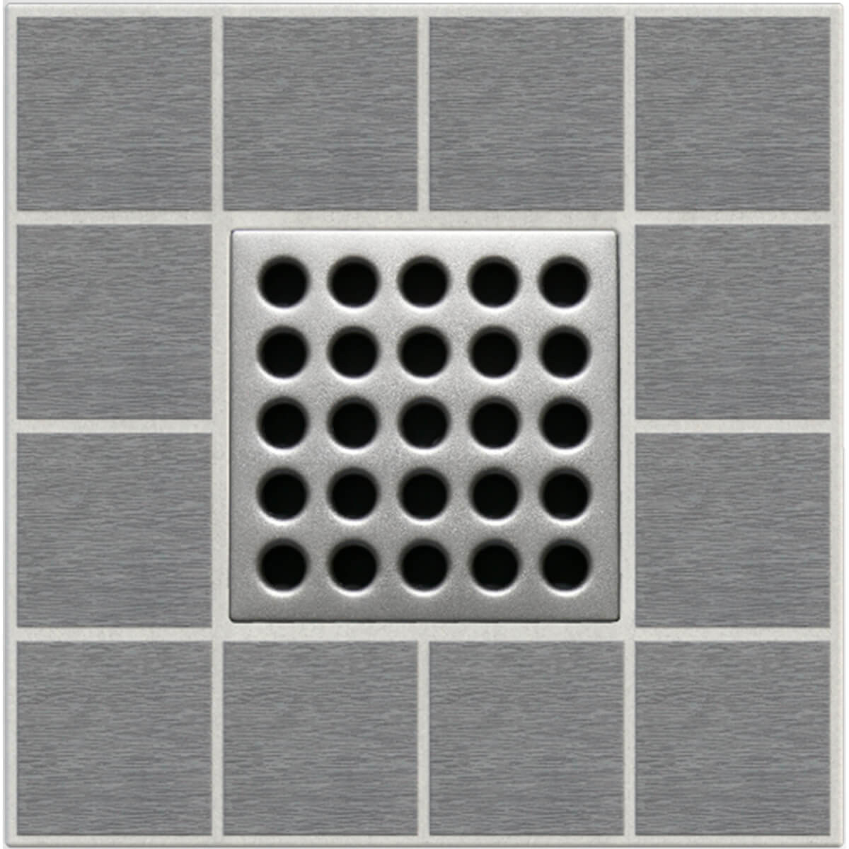 Satin Nickel Ebbe Grates For Shower Drains E4410