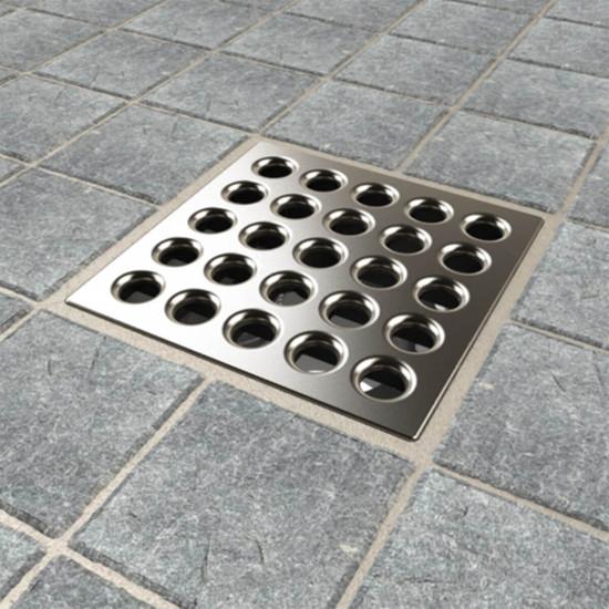 Satin Nickel Ebbe PRO shower drain cover