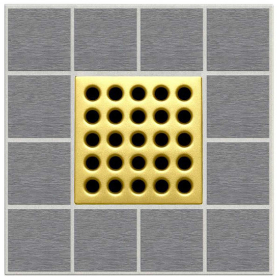 Satin Gold Ebbe Grates For Shower Drains E4402