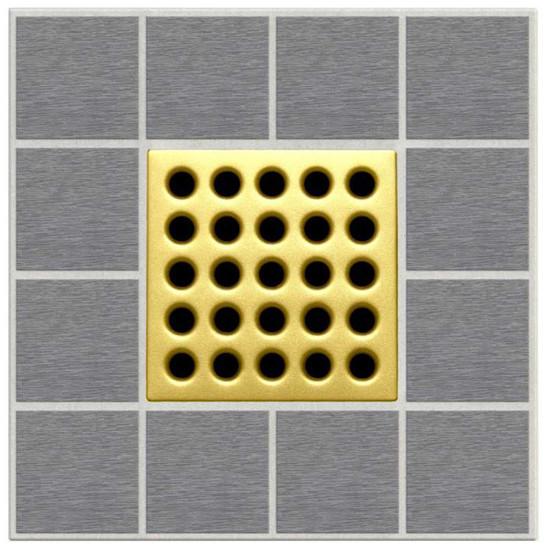 Satin Gold Ebbe Grates For Shower Drains E4402