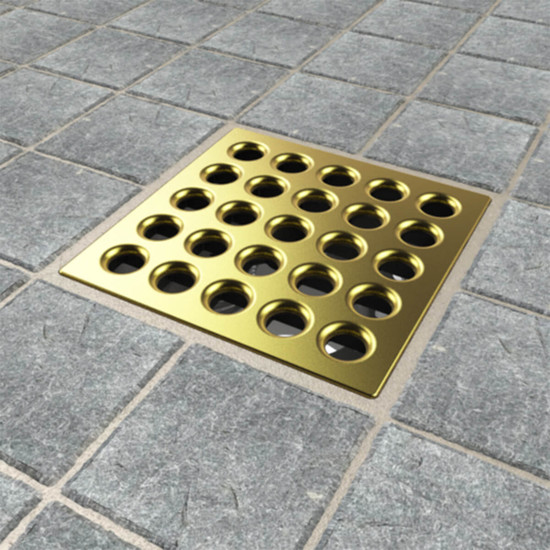 Satin Gold Ebbe PRO shower drain cover
