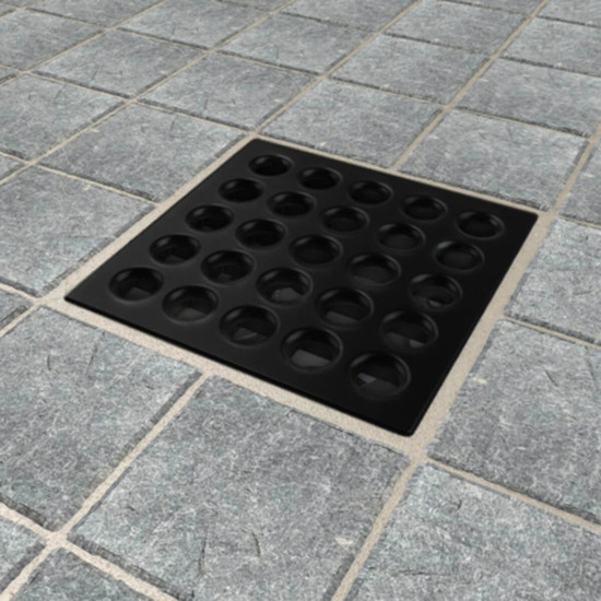 Matte Black Ebbe PRO shower drain cover