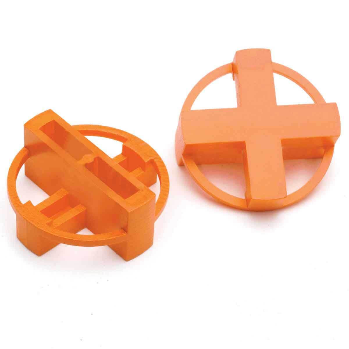 Orange Tavy 4-Corner View Tile Spacers 1006