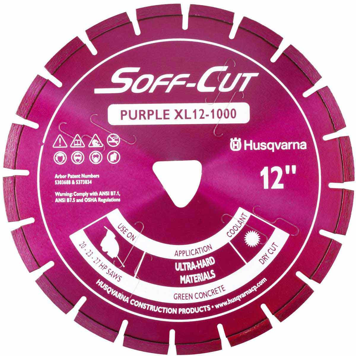 Husqvarna Soff-Cut Excel 1000 Purple Ultra Early Saw Blade