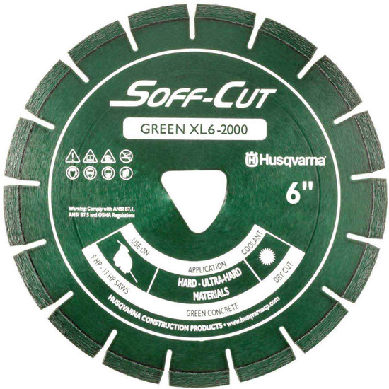 Husqvarna Soff-Cut Excel 2000 Green Ultra Early Saw Blade
