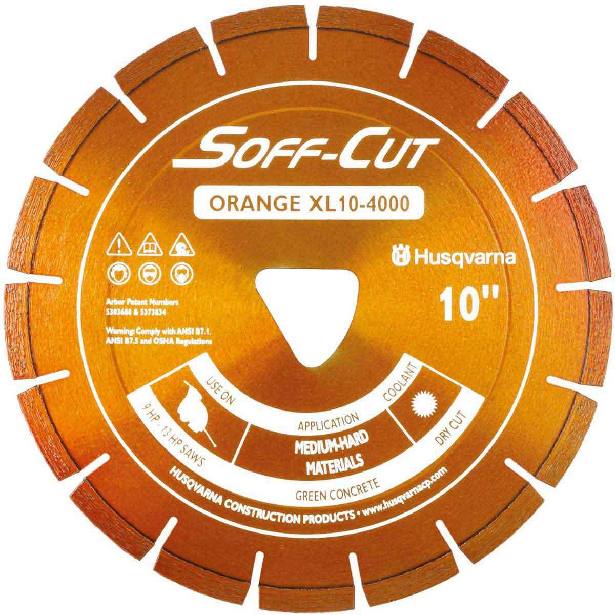 Husqvarna Soff-Cut Excel 4000 Orange Ultra Early Saw Blade