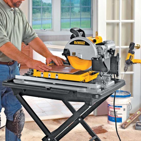 Dewalt D24000 wet cutting indoors