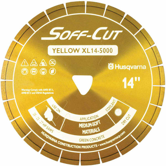 Husqvarna Soff-Cut Excel 5000 Yellow Ultra Early Saw Blade