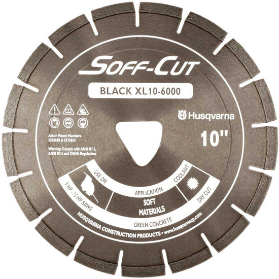 Husqvarna Soff-Cut Excel 6000 Black Ultra Early Saw Blade