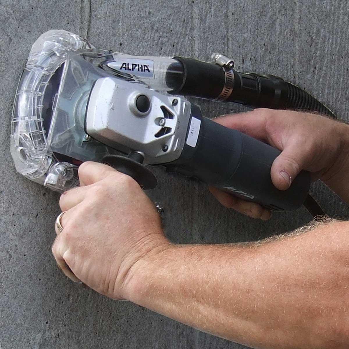 floor grinding alpha ecoguard dust collector