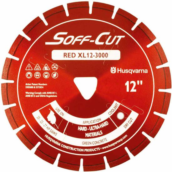 Husqvarna Soff-Cut Excel 3000 X50 Red High Speed Green Concrete Blade