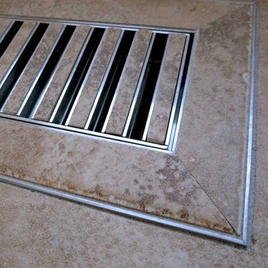 Chameleon Tile Vent Floor Registers custom installation flush with surrounding material