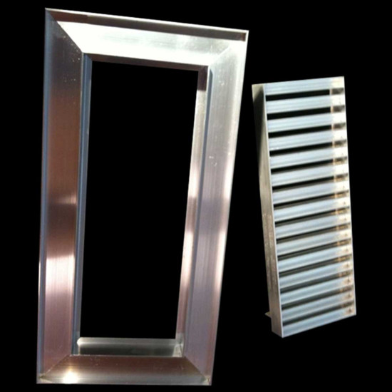 The independent, two-part frame and cradle also permit easy maintenance of the vent interior