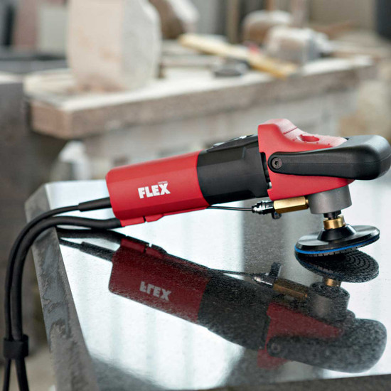 Flex L-12-3-100 with Backer Pad and Diamond Polishing Pad