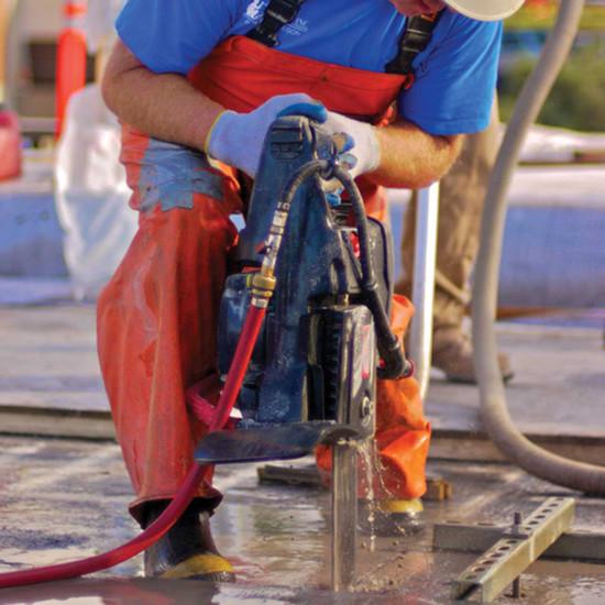 ICS Concrete Chain Saw cutting