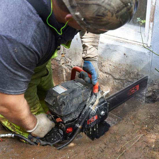 ICS Gas Powered Concrete chain saw