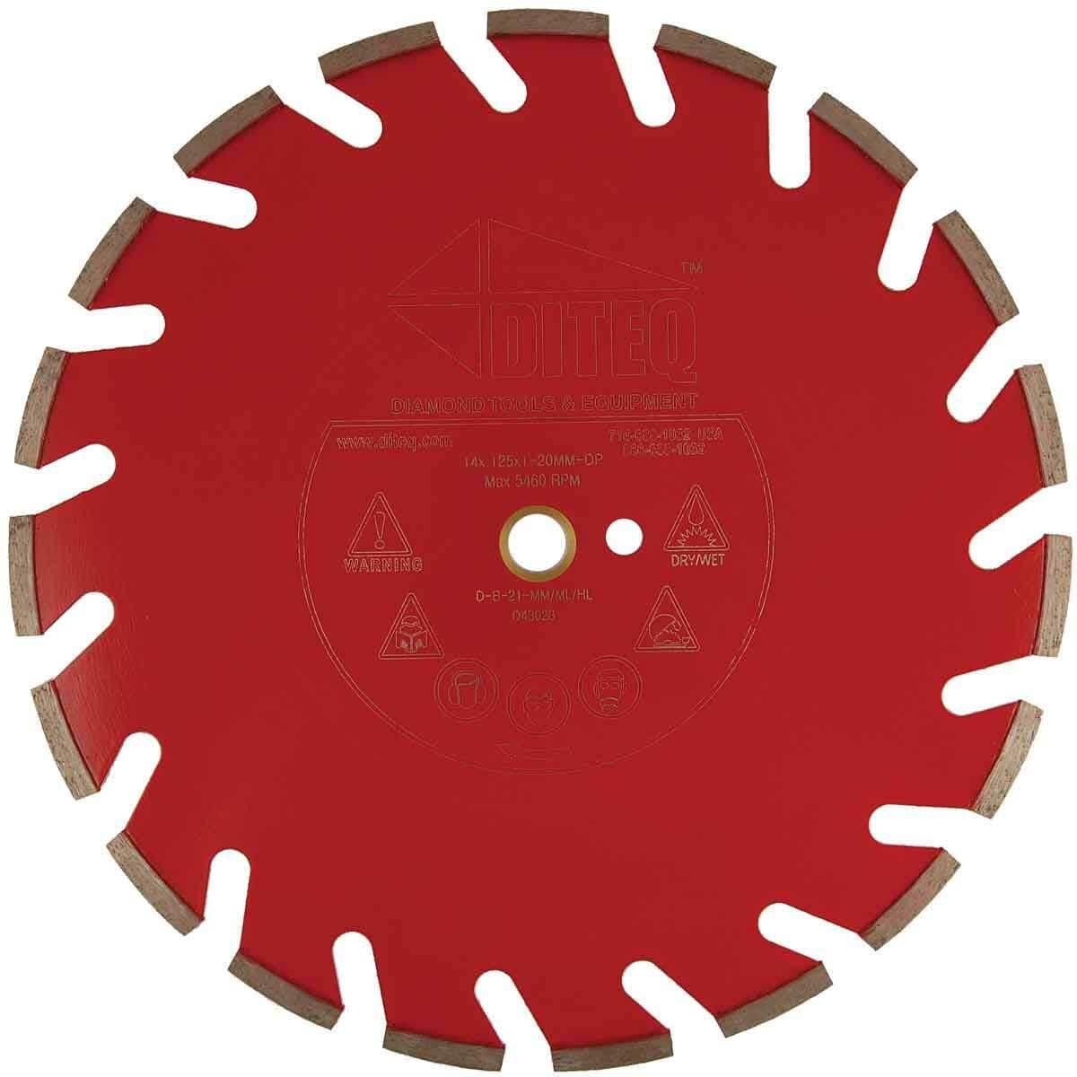 Diteq B32 20 inch Slanted U-Slot Segmented Wet Blade D43038