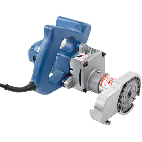 Crain 775 toe kick saw cuts flush to the inner wall of a toe space in a cabinet or counter area to remove old underlayment