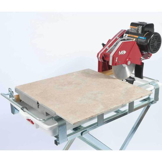 MK 10 inch tile saw cutting large tiles