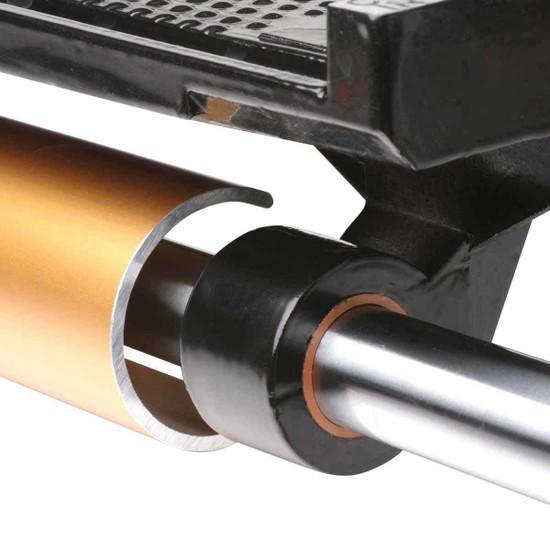 MK tile saw linear bearing on cutting tray