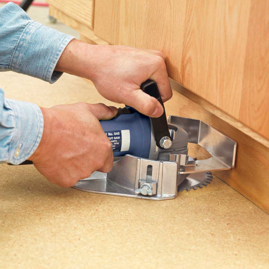 Crain 575 Multi-Undercut Saw Cuts inside corner completely, Cuts doors flush to the floor with a carbide blade