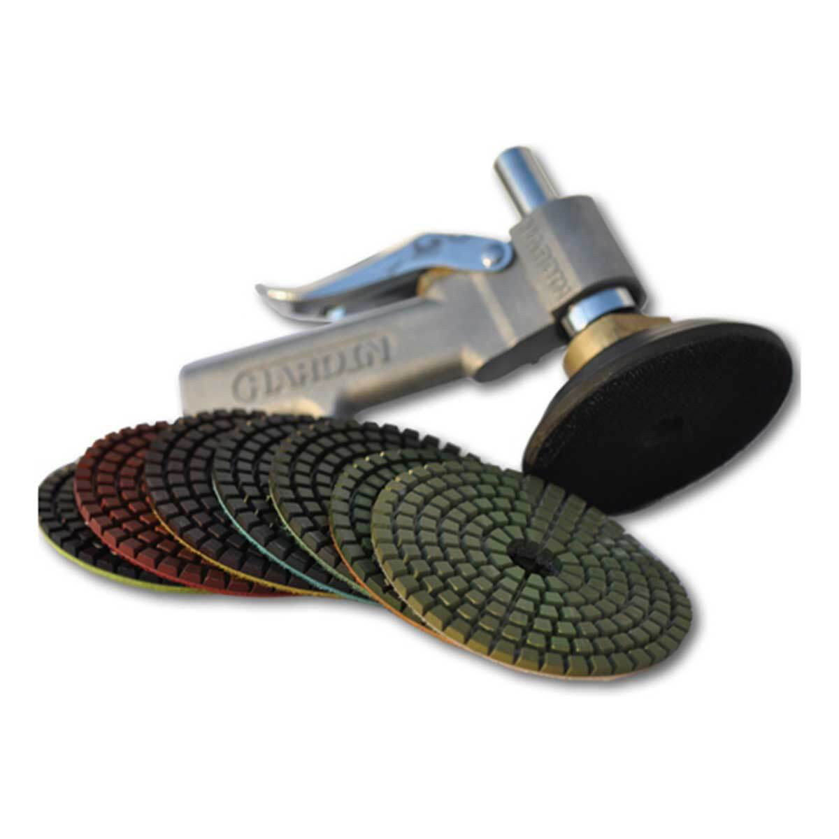 water feed tool with polishing pads