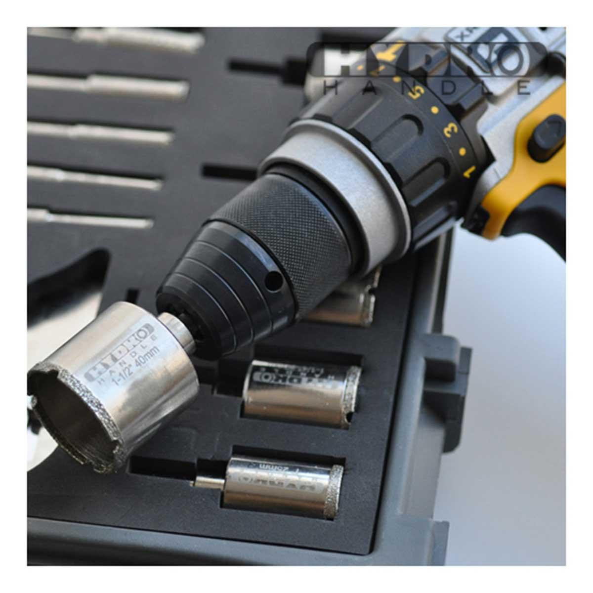 hydro handle bit on drill