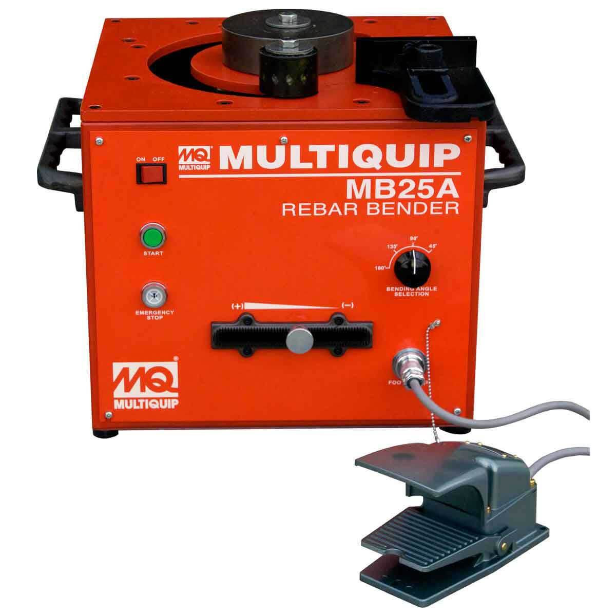 1 inch Bar Capacity MB25A Multiquip Portable Rebar Bender