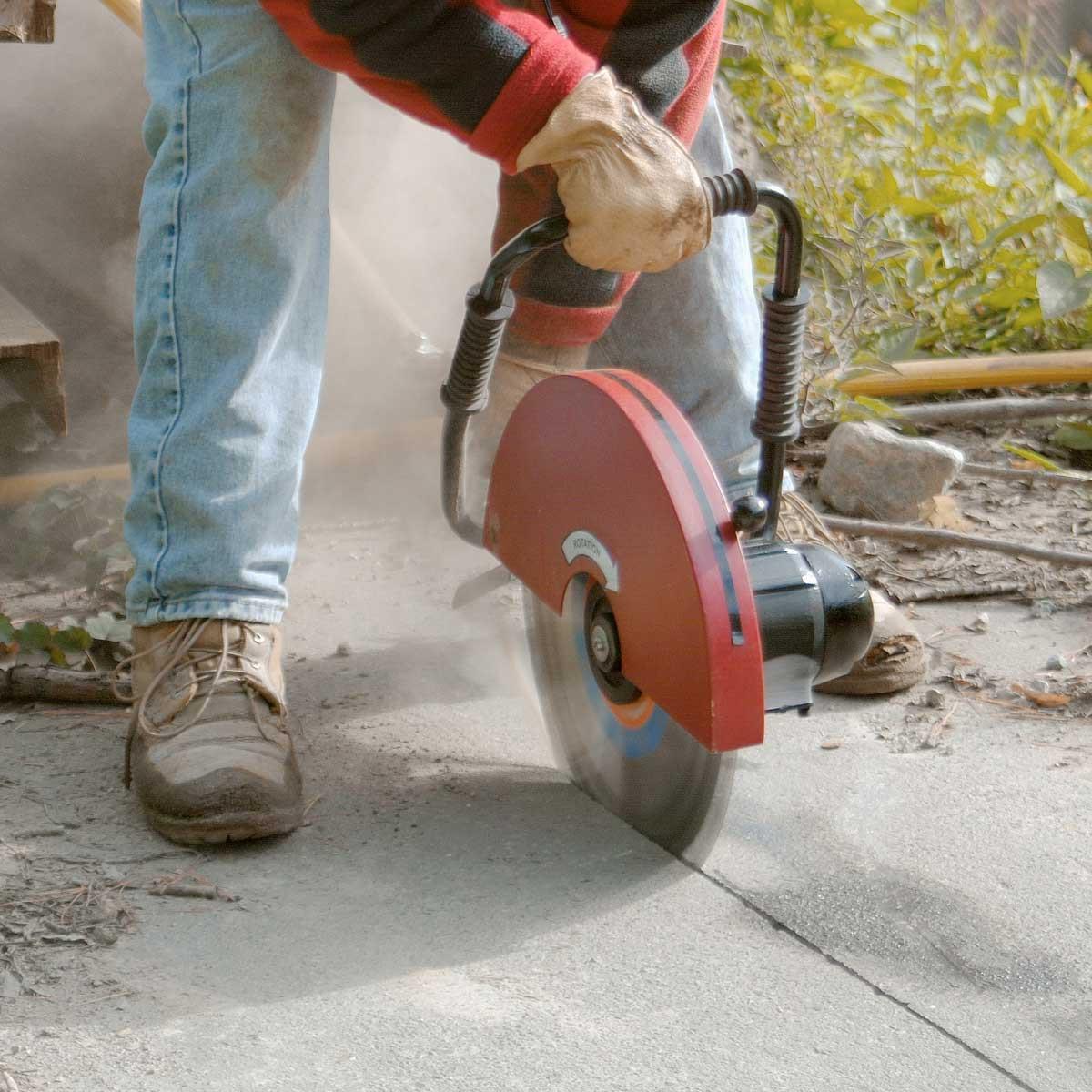 CP concrete Air cut off saw
