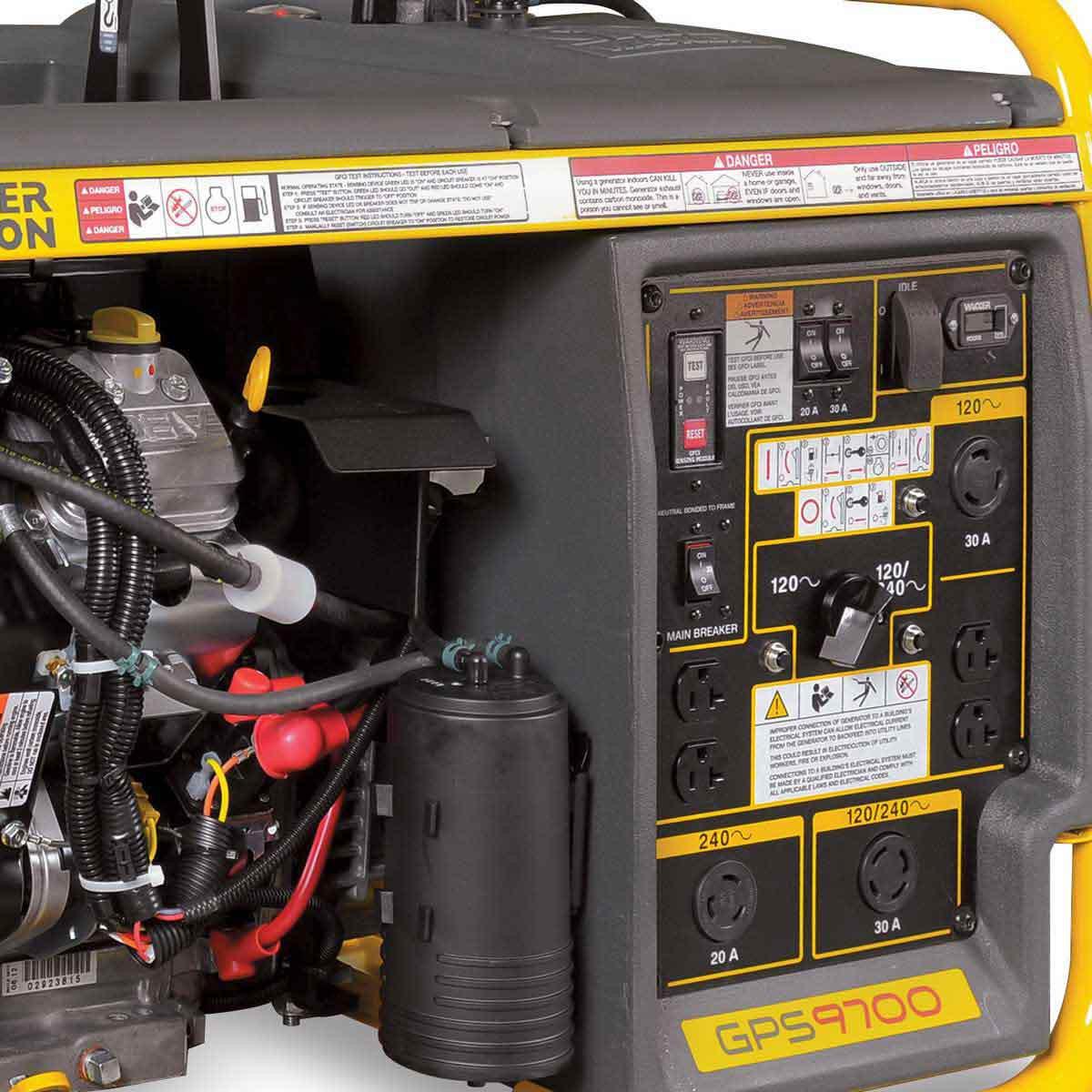 9,700 watt portable generator wacker neuson