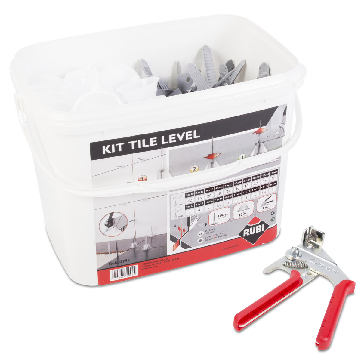 rubi tile leveling kit