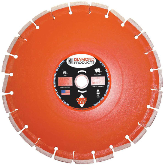 Core Cut Heavy Duty Orange Wet Cured Concrete Blades
