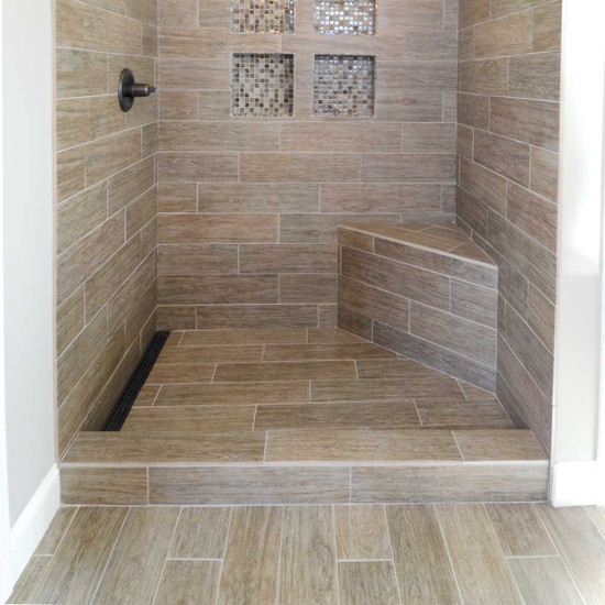 Laticrete Triangle Shower Bench Ins