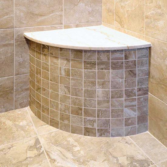 Laticrete Corner Shower Bench With Tile