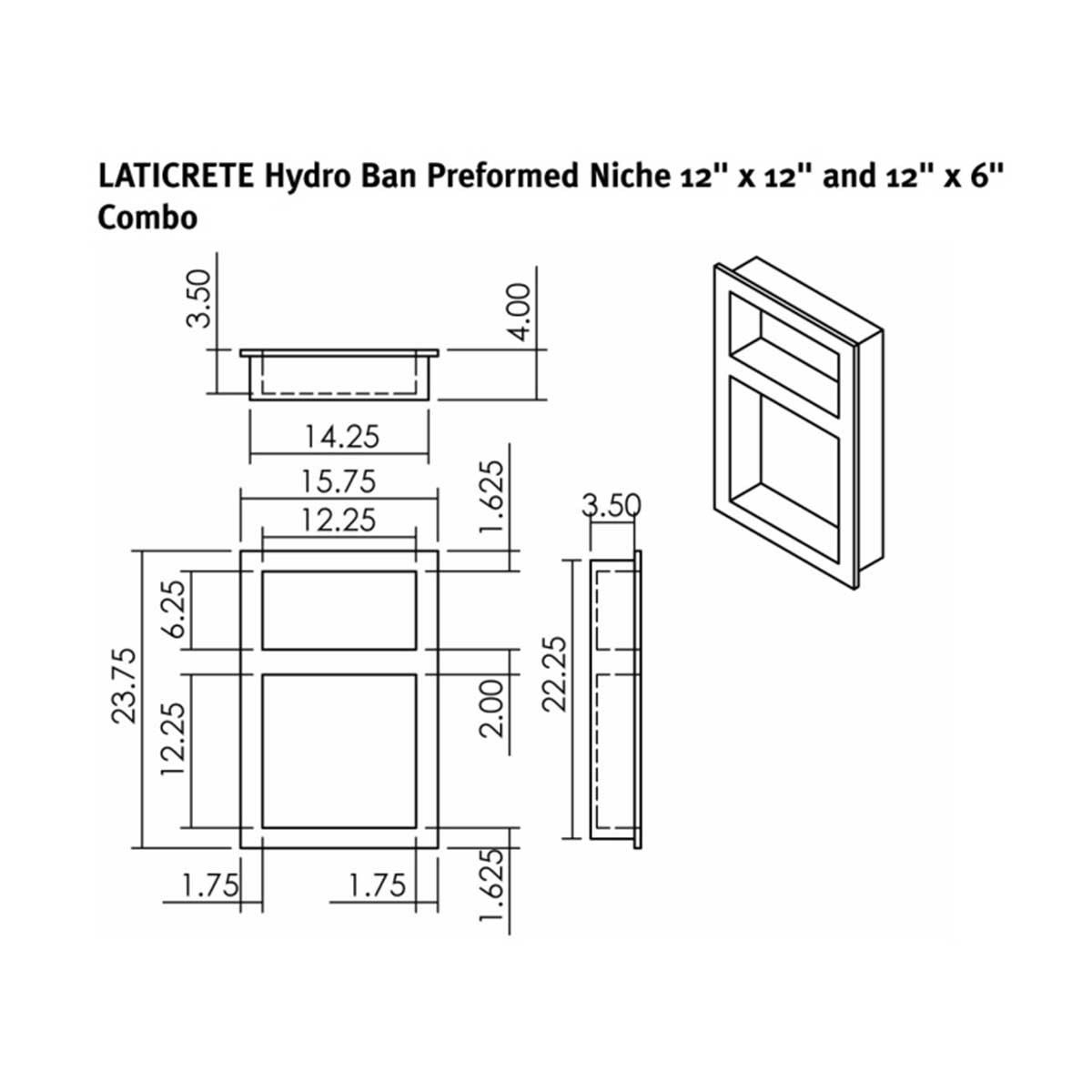 hydroban, shower niche, laticrete
