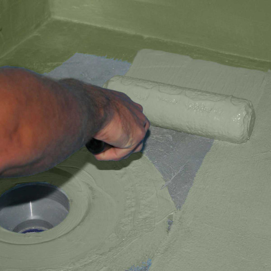 Hydroban Paint On Waterproofing Membrane