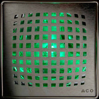 Quartz Linear Shower Drain Green LED