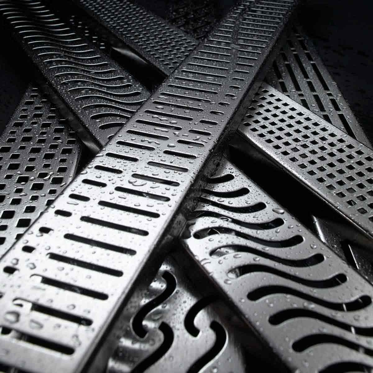 Quartz by Aco Stainless Steel Shower Channels & Grates