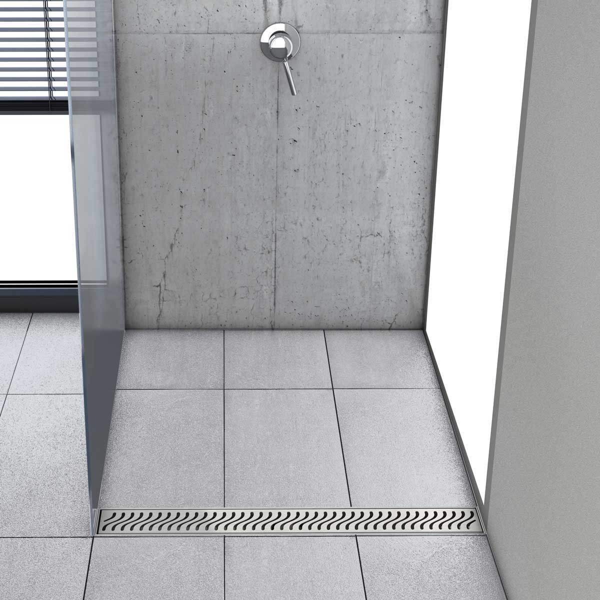 37370-93864 Flag Stainless Steel Shower Channels & Grates