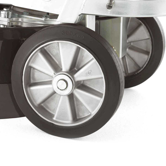 Large Rubber Wheels on Husqvarna PG 680