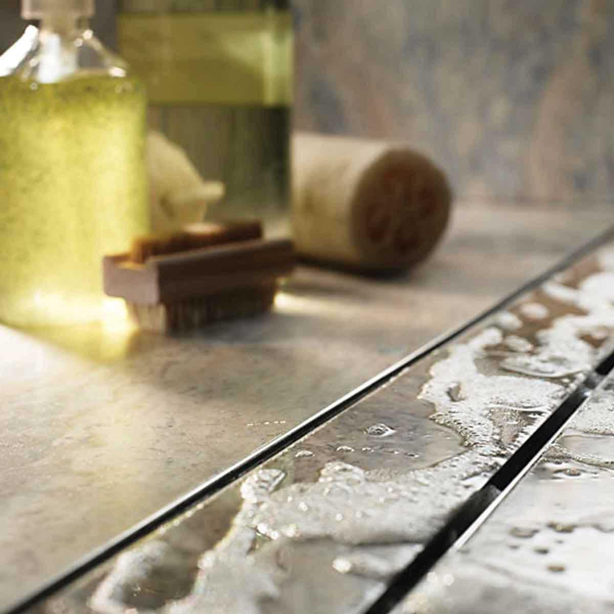 Quartz Stainless Steel Shower Channels & Grates
