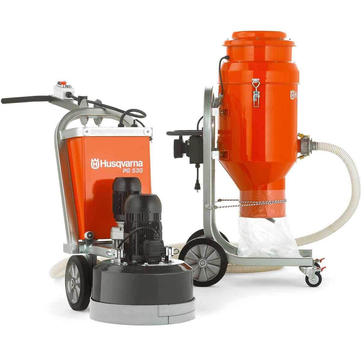 Husqvarna DC3300 Vacuum with PG530 Grinder