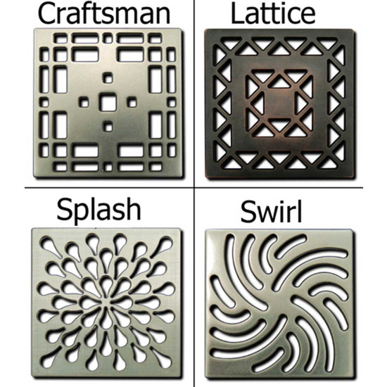 Ebbe Unique Grates Style For Square Drain 12 simply elegant and stylish designs are available in the new grate series