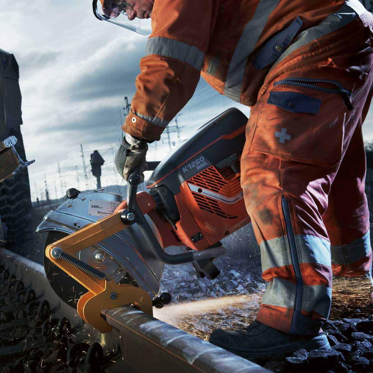 Husqvarna K1260 Rail Saw cutting