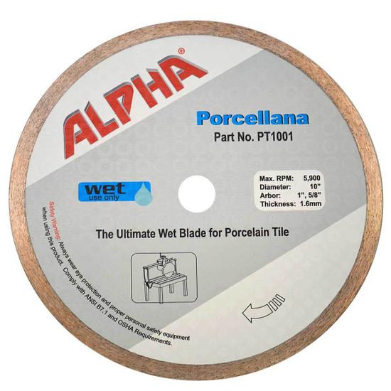 alpha 10in porcellana diamond blade